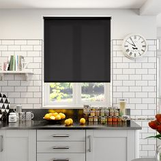 Valencia Simplicity Midnight Black Roller Blind from Blinds 2go