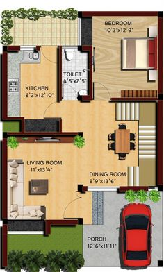 Extraordinary House Plan Images Best Inspiration Home Design Simple House Plans, House Layout Plans, Duplex House Plans, Bedroom House Plans, Dream House Plans, House Layouts, House Floor Plans, Bungalow House Design, House Front Design