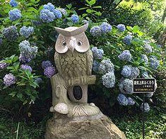 運気上昇ふくろう Wooden Owl, Garden Sculpture, Bird, Outdoor Decor, Birds