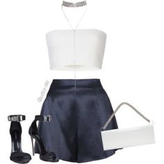A fashion look from September 2017 featuring blue shorts, Pièce d'Anarchive and buckle shoes. Browse and shop related looks. Kpop Fashion Outfits, Stage Outfits, Cute Comfy Outfits, Stylish Outfits, Look Fashion, Korean Fashion, 90s Fashion, Winter Fashion, Fashion Tips