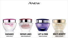 Avon Anew, the anti-aging pioneer. A formula for any age. 2 for $40. C18