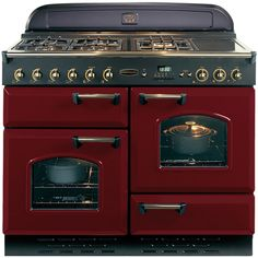 Buy Rangemaster Classic 110 Dual Fuel Range Cooker, Cranberry/Chrome Trim from our Cookers range at John Lewis.