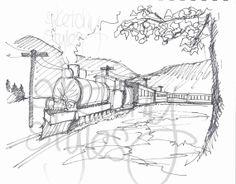 """Printable 8"""" x 10"""" Kid's Colouring Page - Train    #Printable #Colouringpage"""