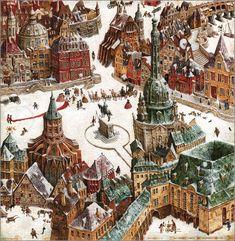 'The Tinder-Box' - illustration by Vladislav Erko for the  story written by Hans Christian Andersen.