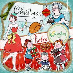 Retro Christmas  digital scrapbooking and crafting digikit - for Serif CraftArtist on DaisyTrail by designer Charlotte Thomson-Morley