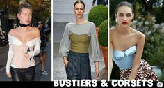 Os bustiers e corsets sairam da moda underwear e agora são peça-chave dos looks descolados das fashionistas! Basta aposta na combinação: camiseta e bustier para ficar na moda com muito estilo!