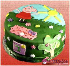 Tarta de Peppa Pig para un primer cumpleaños
