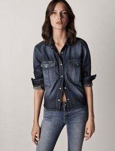 Steal Every Look From Mango's Denim On Denim Campaign via @WhoWhatWear