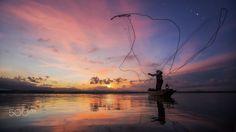Fisherman of Bangpra Lake in action when fishing, Thailand Fly Fishing Line, Sea Fishing, Fishing Lures, Fishing Australia, Destin Fishing, Fishing Photography, Fish Farming, Portraits, Fishing Accessories