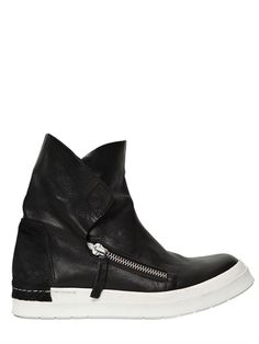 CINZIA ARAIA 50MM LEATHER HIGH TOP SNEAKERS