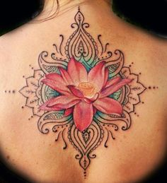 Lotus tattoo ... artist not listed Highly doubt I could get this as small as I want it, but I love the concept