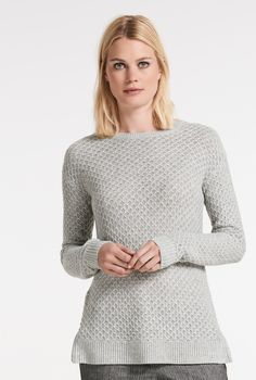 3b34ae03074 Crew Neck Fancy Stitch Sweater Long Tall Sally