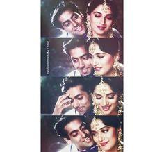 Image via We Heart It https://weheartit.com/entry/154413299/via/26989076 #actor #actress #bollywood #indian #salmankhan #madhuridixit #humaapkehainkaun