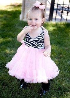 Pink Zebra Halter Dress L 3-4 yr « Dress Adds Everyday