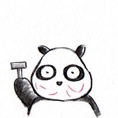 【一日一パンダ】 2014.12.9 先日T字のひげ剃りで本気で剃ったところ 血が出てヒリヒリしたよ。 何事もやり過ぎは良くないね。