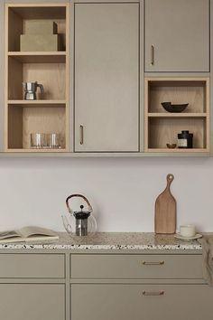 Kitchen Room Design, Kitchen Dinning, Home Decor Kitchen, Interior Design Kitchen, New Kitchen, Home Kitchens, Modern Retro Kitchen, Nordic Kitchen, Interior Desing