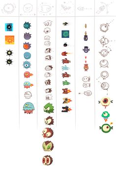 King of Thieves pre production graphics on Behance Doodles Games, Game 2d, Game Interface, Monster Characters, Fantasy Monster, Pre Production, Game Concept Art, Game Icon, Character Design Inspiration
