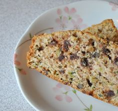 Chocolate Zuccini bread ~ very bland, hard to mix all together. Substituted half of the flour for whole wheat flour.