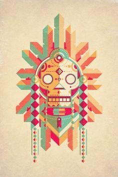 Skull tribal art..