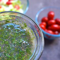 "Did someone say ""Healthy Thanksgiving?"" One of our favorite vegan bloggers Vegetaryn shows us how to make this tasty Lemon Dill Chia Dressing – a delightful side dish for your Thanksgiving table! http://www.mammachia.com/lemon-dill-chia-dressing/"