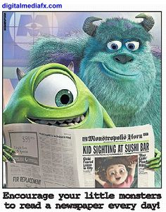 Mike and Sulley have time to  read!