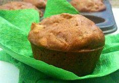Muffin de maçã e nozes sem glúten e sem lactose