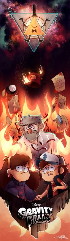 "Mabel hugged Dipper as flames began to rise around them. Bill Cipher has completed his purpose... He could leave in peace to become human for the rest of his life. But obviously, the universe hated this decision. Chaos rose around them. ""Is it happening, Dipper?"" Mabel quivered. ""Yes, Mabel,"" Dipper said quietly. He grabbed Mabel's hand- and together they leapt into the flames."