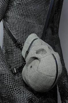 The Aitor Throup Archetype #001: Shiva Skull Bag. See: http://www.oki-ni.com/accessories/aitor-throup-shiva-skull-bag-ait1601lgh.html