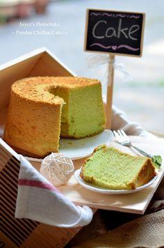 Joyce's Home Bake: Pandan Chiffon Cake 班兰戚风蛋糕