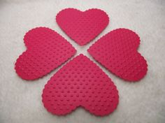 Embossed Paper Hearts...12 Piece Set of Very by JudeAlyssaMarkus, $2.40