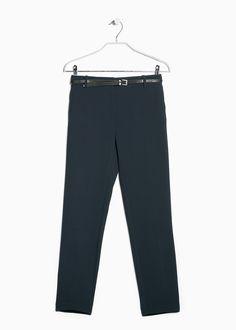 Креповые брюки с ремнём