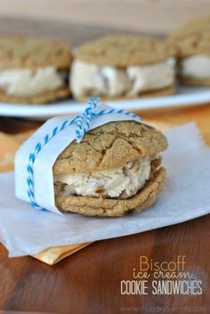 Biscoff Ice Cream Cookie Sandwiches: chewy homemade Biscoff cookies ...