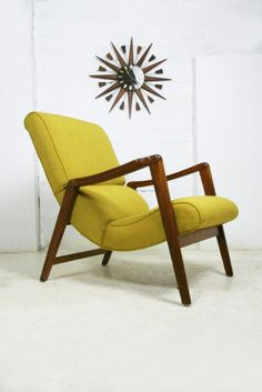 Mid Century Mustard armchair.   Designed by E-Gomme for G-Plan.