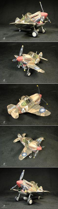 P-40E - Tiger Model Ltd. Cute Plane Kit Series No.06.