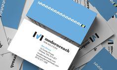 Business Cards by Ottawa Graphic Designer idApostle for Web Development Company Modernreach