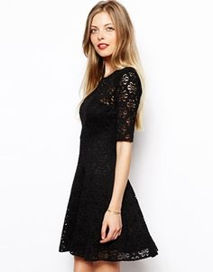 Enlarge ASOS Fit And Flare Dress In Daisy Lace