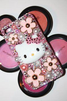 Swarovski Hello Kitty Daisy iphone 4/4s case by slave2beauty