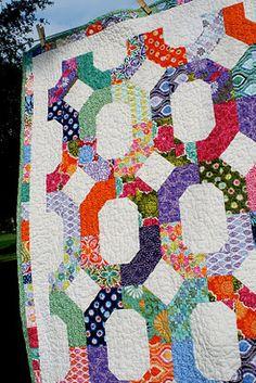 Fun jellyroll quilt via http://www.modabakeshop.com/2011/10/cross-terrain-quilt.html#more