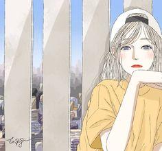 Aesthetic Drawing, Aesthetic Art, Anime Art Girl, Manga Girl, Korean Painting, Anime Muslim, Girly Drawings, Sketch Painting, Illustration Girl
