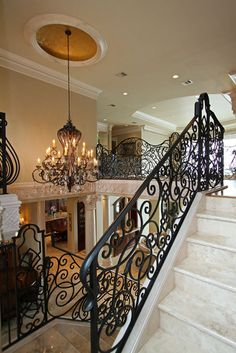 Wrought Iron stair case railing, I will probably never own a house I could use this in....but I love it!