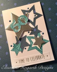 Male Birthday Card using Nouveau Vogue papers and cutting dies. Created by Elisabeth Hogarth