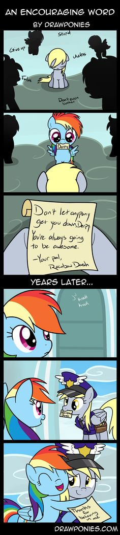 Best mail pony ever As a bronie and a good person I wish the Kid got a letter like derpy got