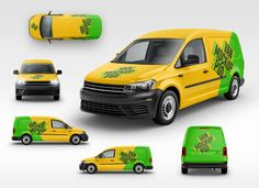 The best Van Mockup with 6 angles that lets you create a professional presentation for your personal or client designs. This mockup includes smart layers so you can easily apply your designs on the van, and allows you to change the background. Bus Advertising, Caddy Van, Hatchback Cars, Van Car, Cool Vans, Free Cars, Photoshop, Car Brands, Car Wrap