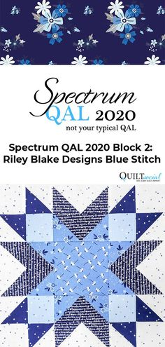 Cutting and piecing instructions for Block 2 by Elaine Theriault for her version of the Spectrum QAL2020 ✨💙#QAL2020 #TheSewGoesOn #letsquiltalong #patchwork #rileyblakedesigns Quilting Rulers, Quilting Tips, Quilting Projects, Quilting Designs, Pattern Blocks, Quilt Patterns, Quilting For Beginners, Fabric Squares, Riley Blake