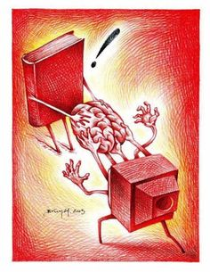 Switch off The Television! - Free Your Mind. Read book