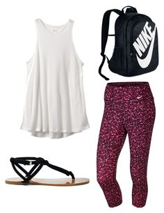 """""""NIKE shopping day"""" by sadie-loehr ❤ liked on Polyvore featuring RVCA, NIKE and Sole Society"""