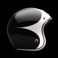 PAVILLON | Ruby wicked retro helmet design #moto