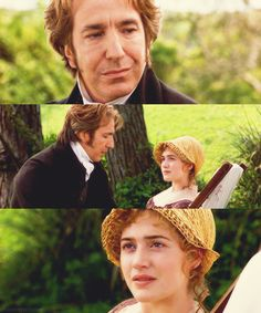 """there is nothing lost...that cannot be found...if sought.""  I can hear that heavenly voice now. (Alan Rickman, Kate Winslet -- Sense and Sensibility). Nice to see Rickman in a role other than Snape."