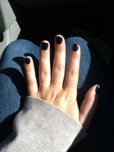 Thank you Happy Nails in Elkton MD for my beautiful navy blue gel manicure :)  HA!  I would know those hands anywhere