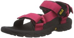 JACK WOLFSKIN Seven Seas Ladies Sandals, Red, US4.5 -- Want additional info? Click on the image.